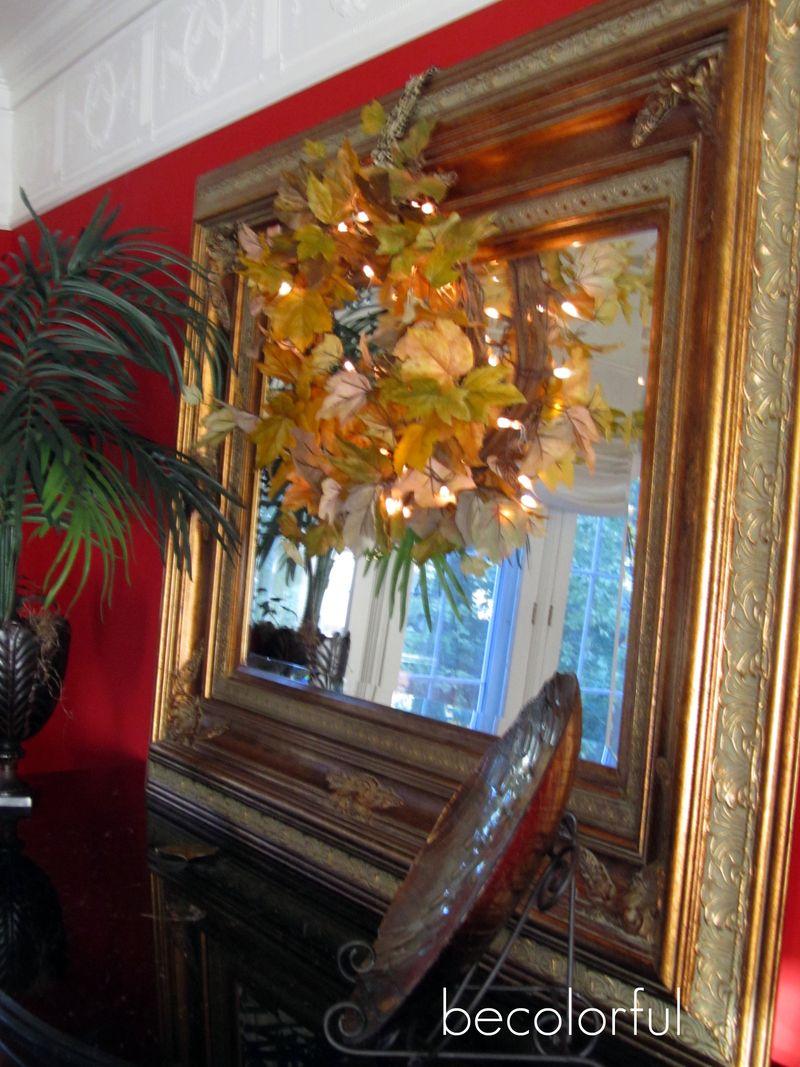 Dining room wreath