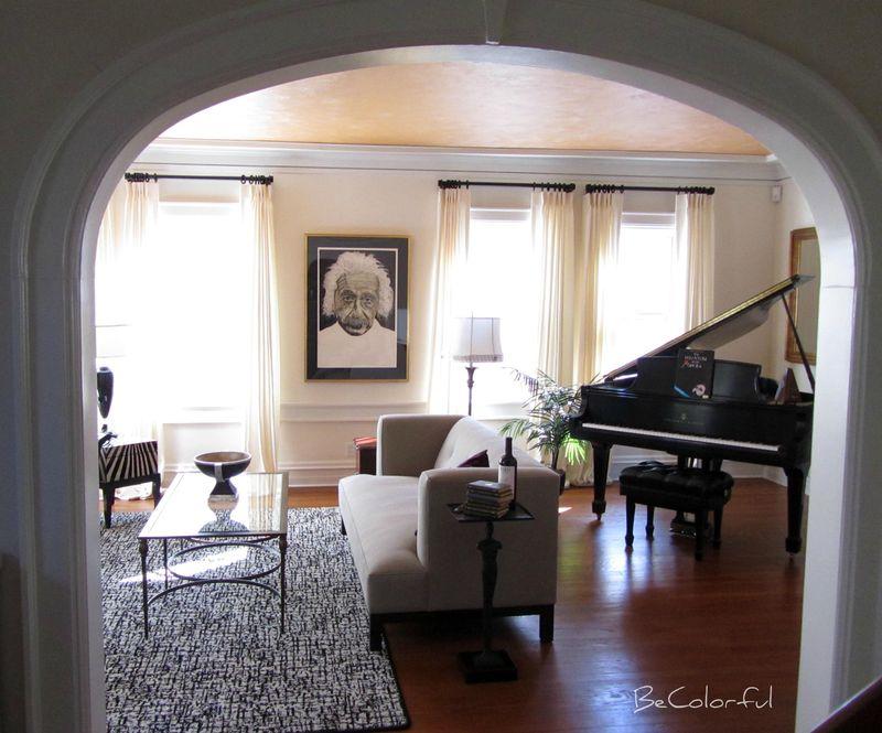 Einstein in living room