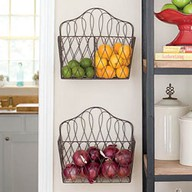 Wire baskets kitchen