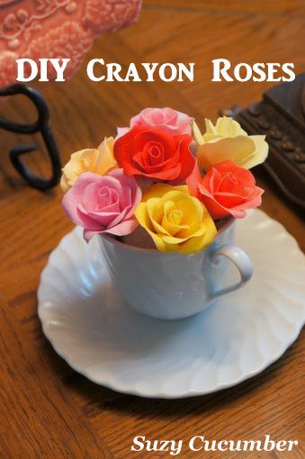 Crayon flowers