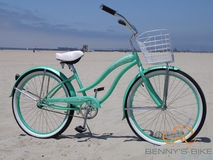 Mint green benny's Bike Store
