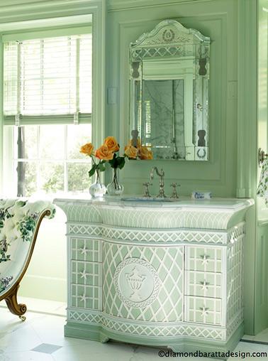 Mint green by Diamond Baratta via The Enchanted Home