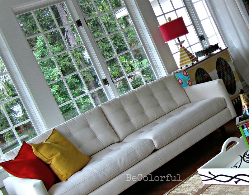 Green room sofa