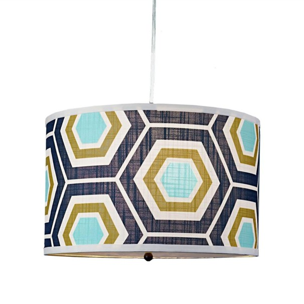 Navy and aqua lamp via Post Local