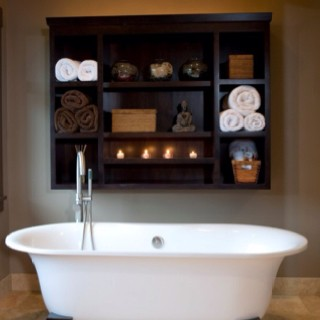 Cuby wall stoarge for bath