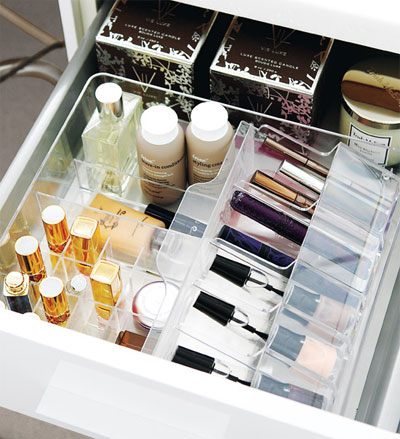 Make up storage in drawer