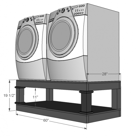 Washer-dryer-pedestal