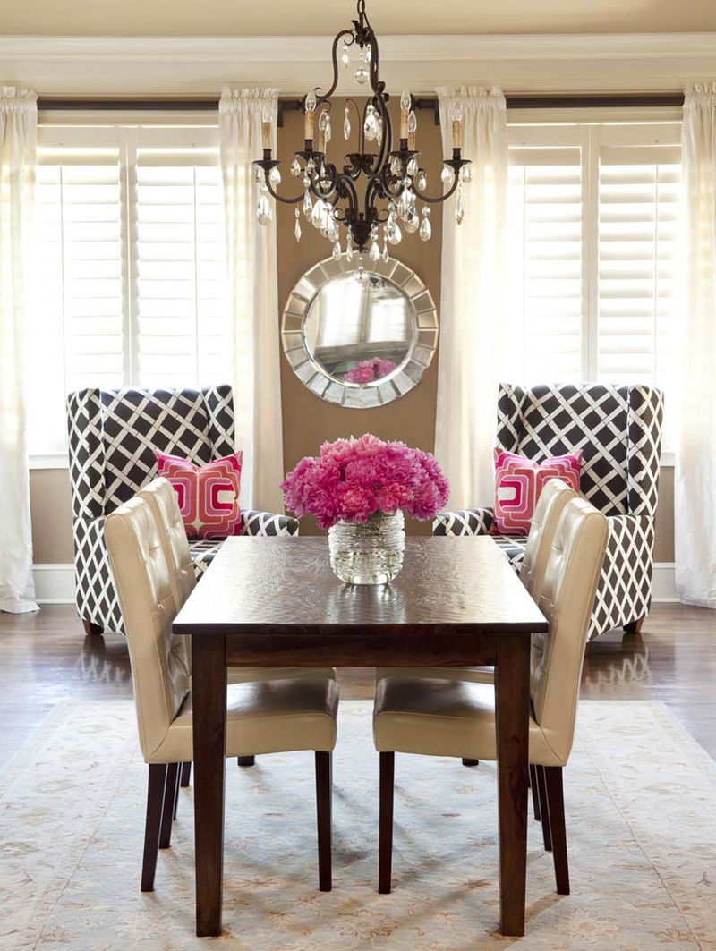 The lennoxx brown-white-pink-traditional-dining-room