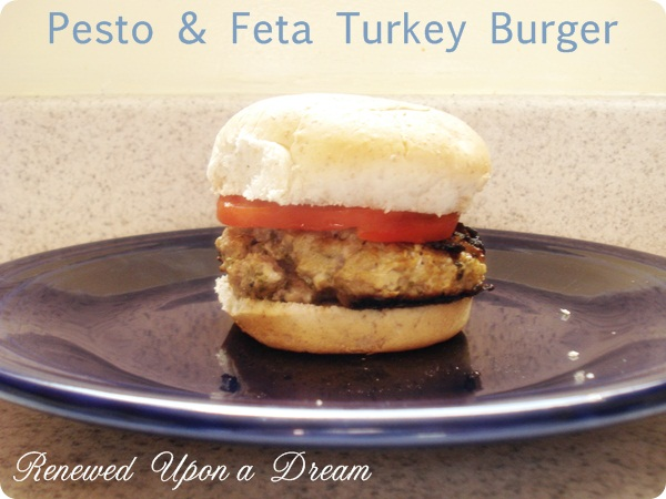 Pesto feta turkey burger