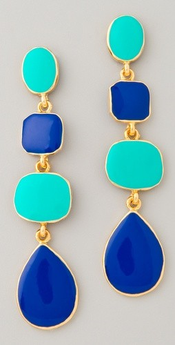Navy and pool earring via carolina-prep