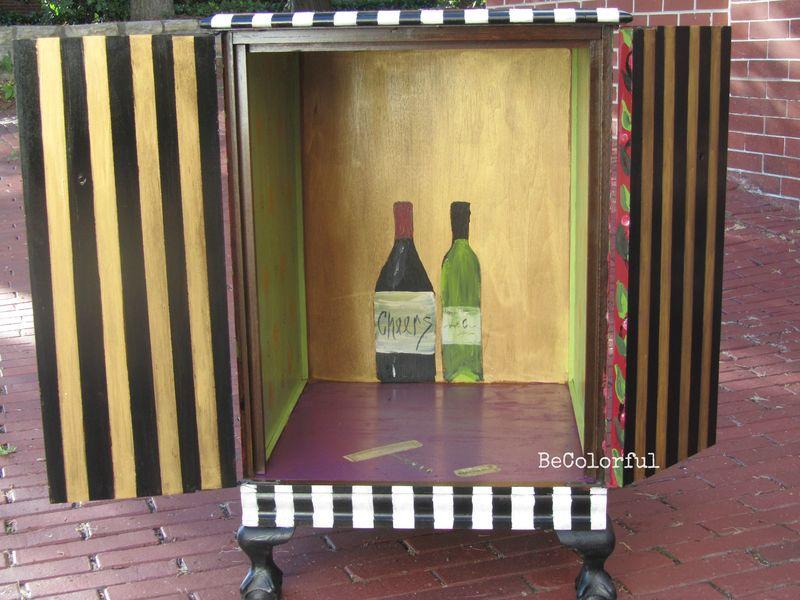 Wine cab interior view