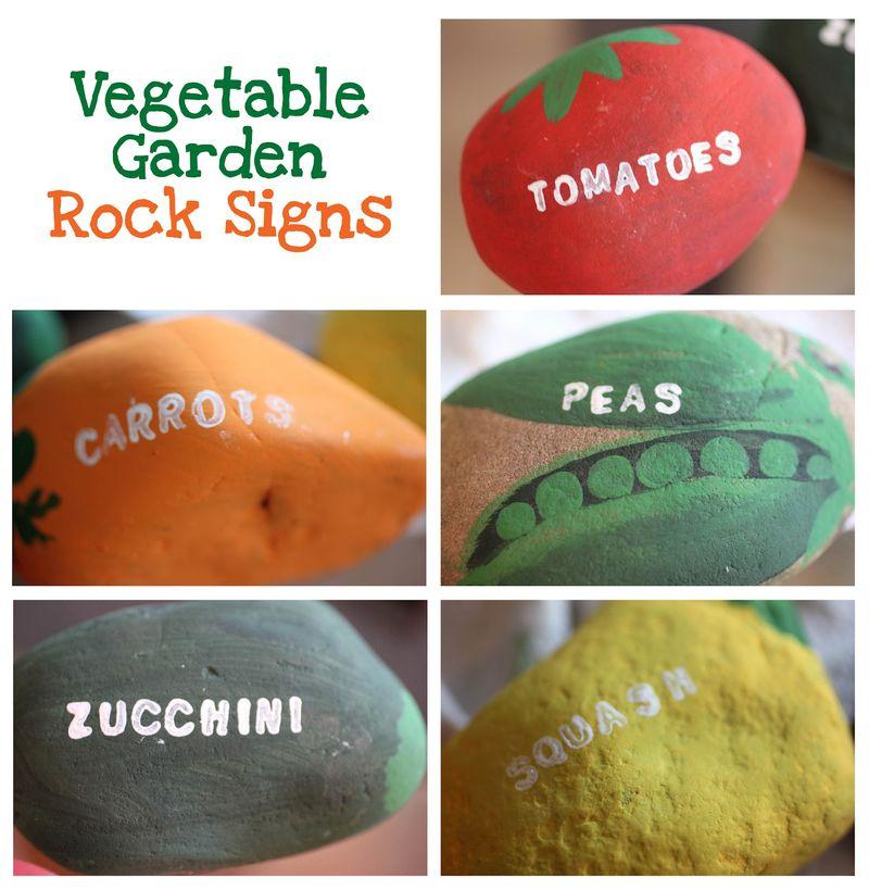 VegetableGardenRockSigns