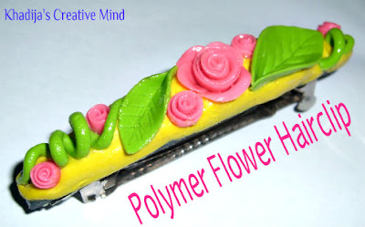Polymer flower hairclip tutorial