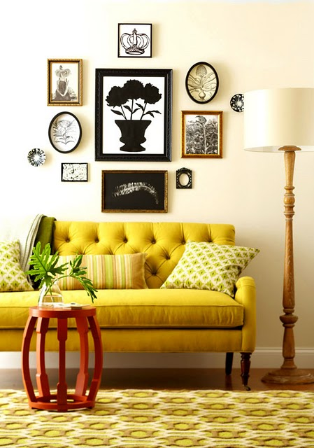 Chartreuse and orange hgtv