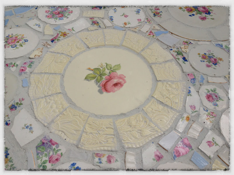 Center of mosaic table