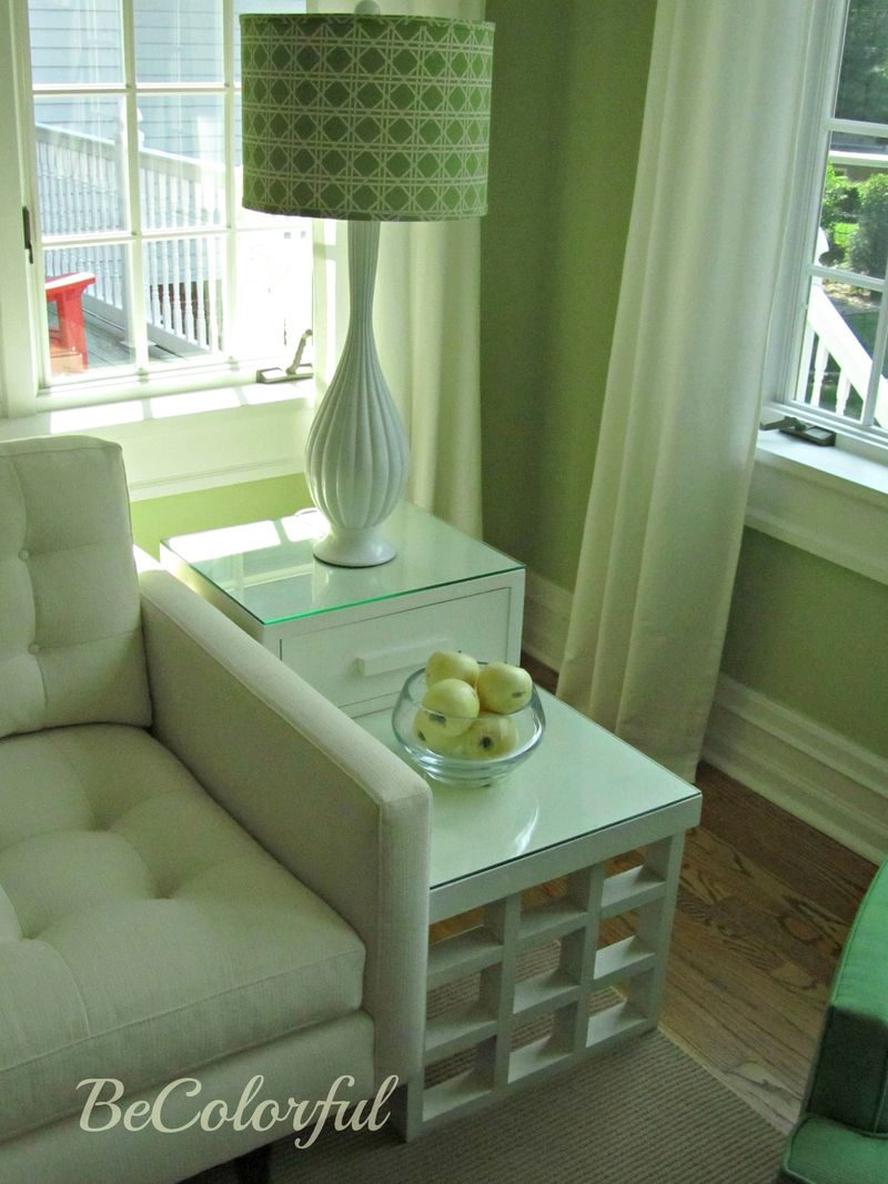 Green room side tables