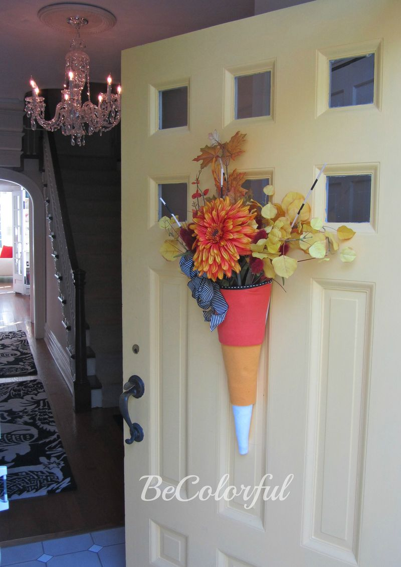 Fall front door 2012 door opened