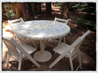 Mosaic Table and Chairs 2