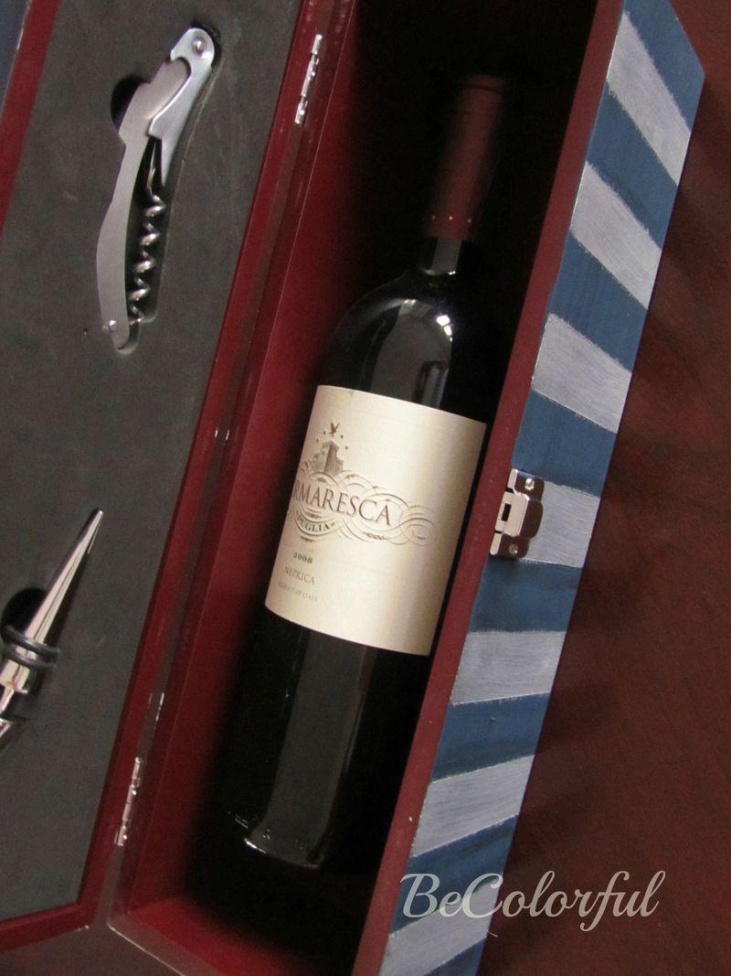 Survival wine box focusing on wine