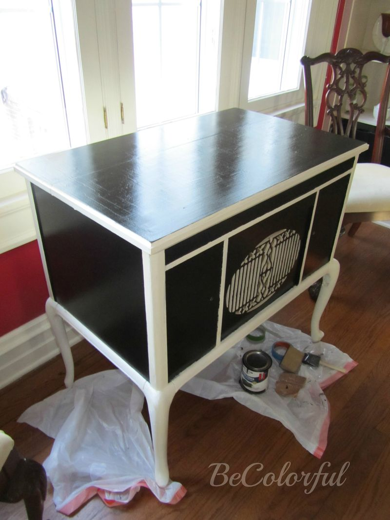 HR cabinet black on top of tape