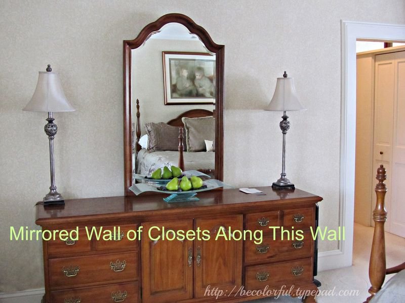 Mirrored closet wall