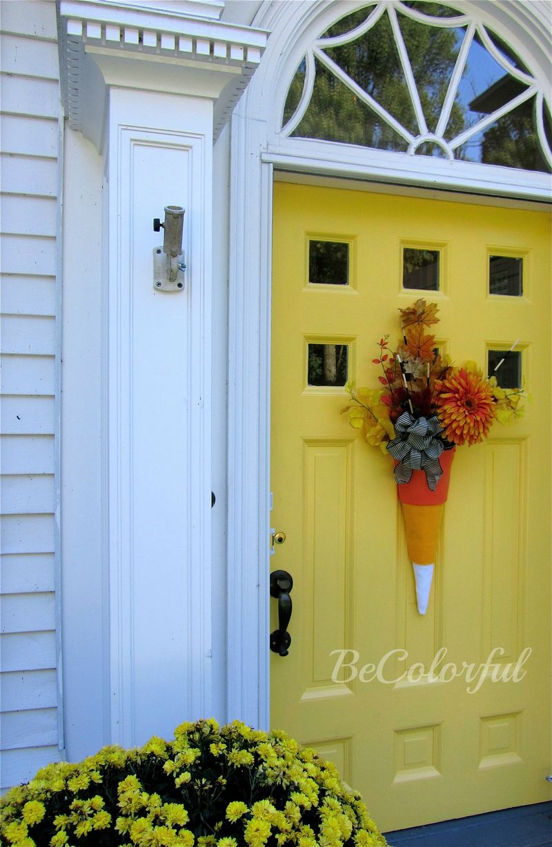 Fall front door 2012 fullwflowers