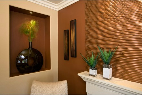 Redone copper wall in metal thecopperdesign.com