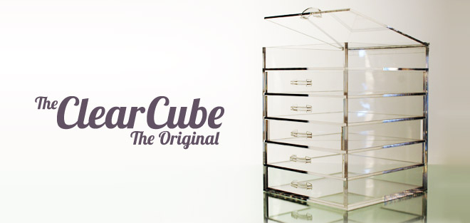 Clear Cube Cosmetic Storage Options