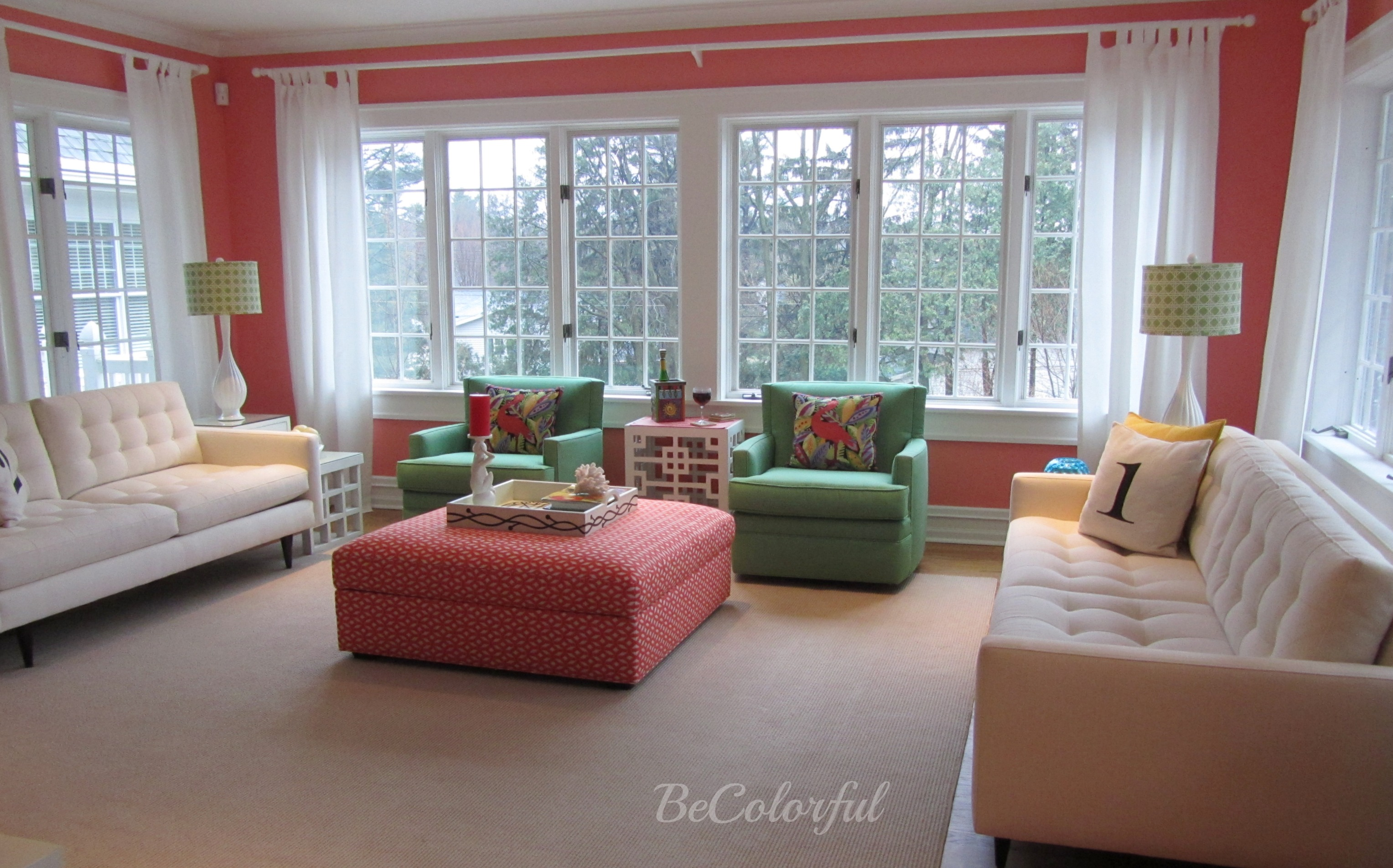 The Green Room That Went Coral Becolorful