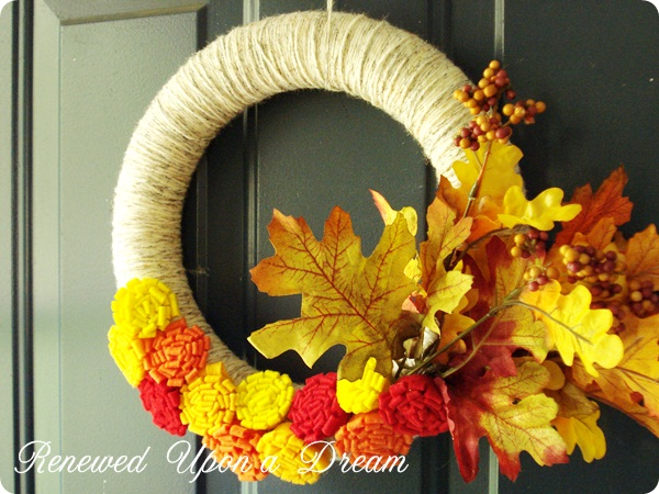 Fall wreath up close