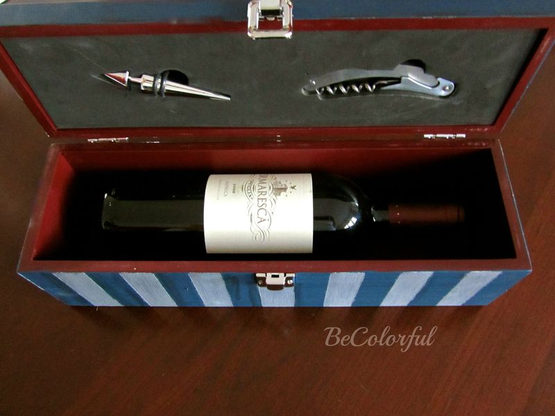 Survival wine box open