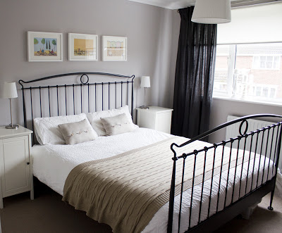 Master Bedroom Dulux Perfectly Taupe Paint Yellow Accents