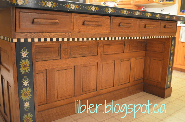 Kitchen island 3 labeled