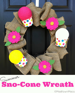 Sno-Cone Wreath by Madtown Macs