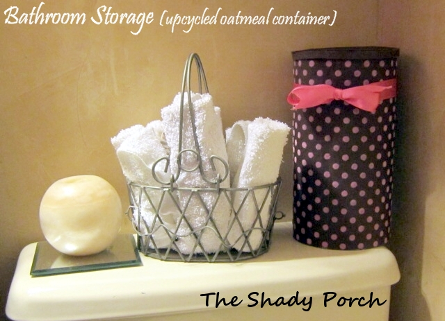 Upcycled Oatmeal Container - Bathroom Storage