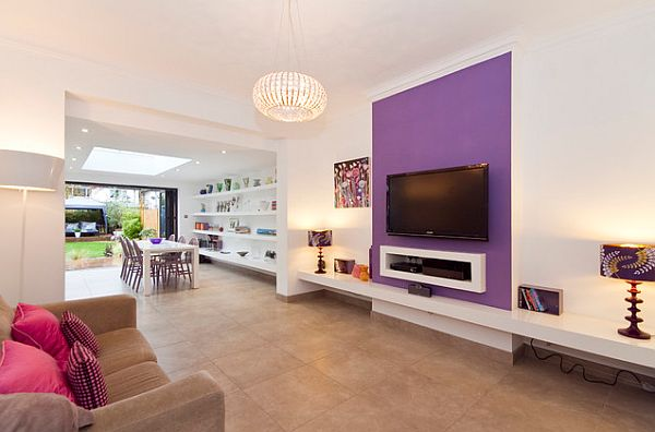 Purple-accent-wall-on-white-paint