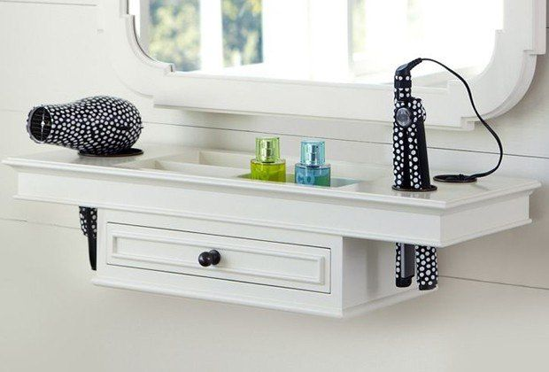 Becolorful organization for Pottery barn teen bathroom