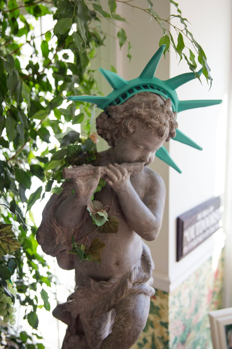 Puck as Lady Liberty
