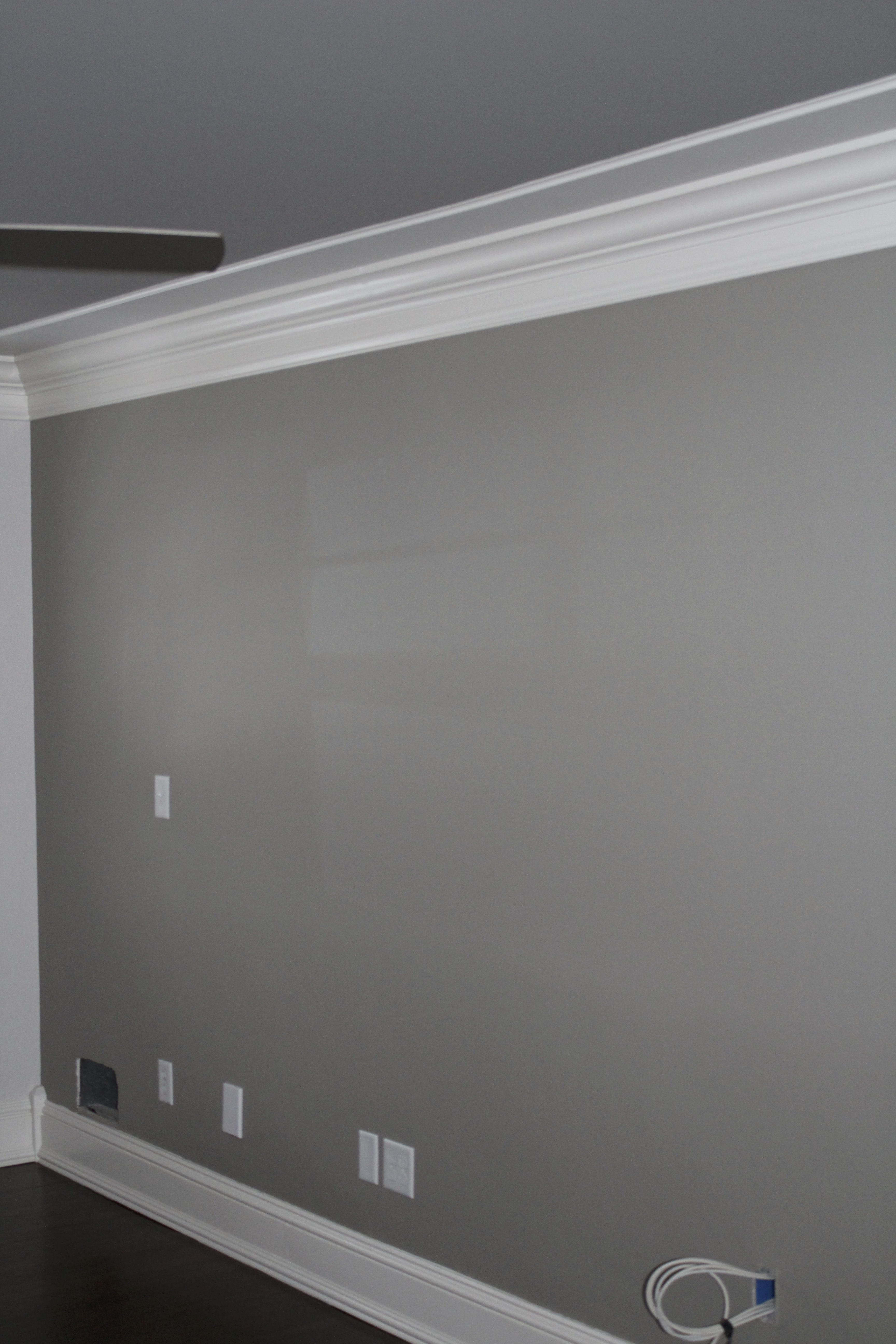 The Color Between Moldings Is Sherwin Williams City Loft Same That On Other Three Walls