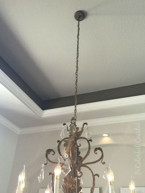 Dining room ceiling aug 2015