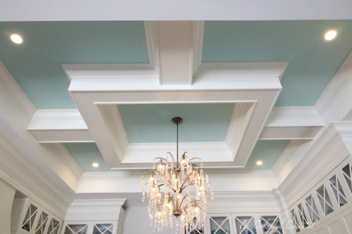 Be Colorful Coffered Ceiling