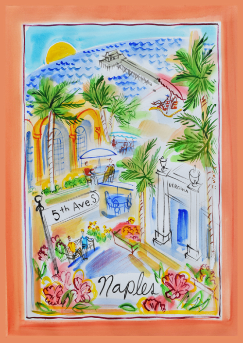 Naples Tea Towel Lilly O's