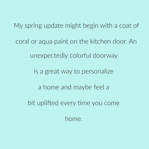 Spring update door