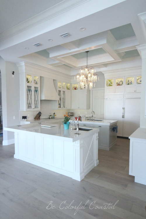 Be Colorful Coastal Kitchen