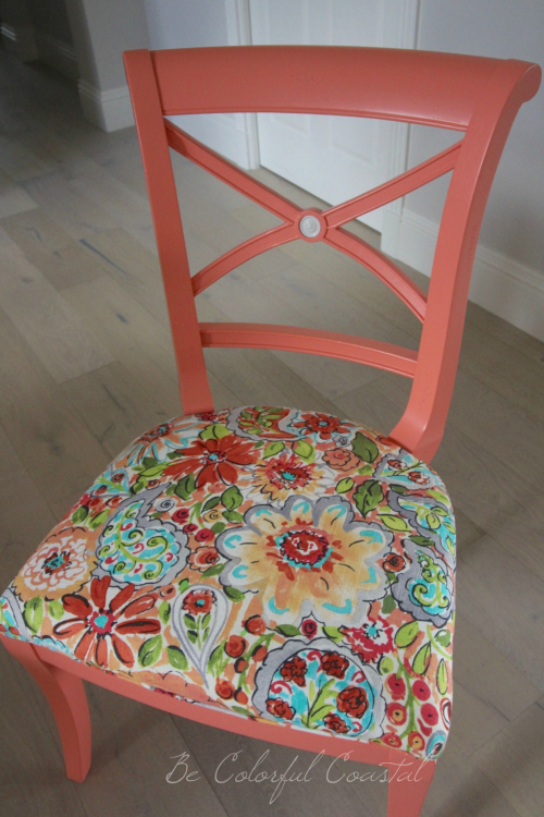 Colorful dining side chair