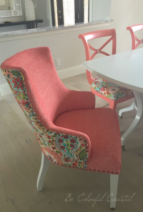 Colorful dining arm chair