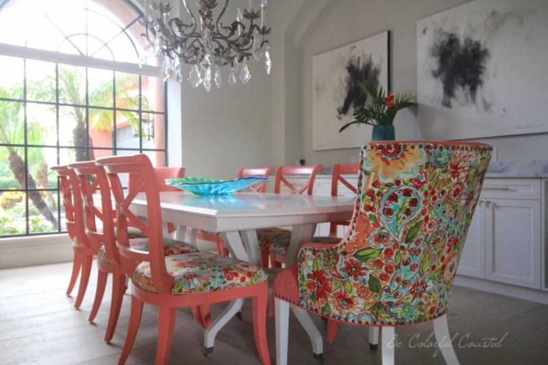 Colorful coastal dining room horizontal