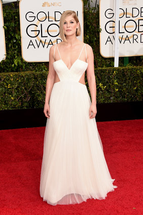 Rosamund Pike in Vera Wang getty photo