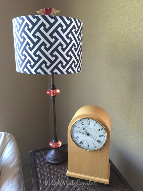 Family room updated galena lamp and clock