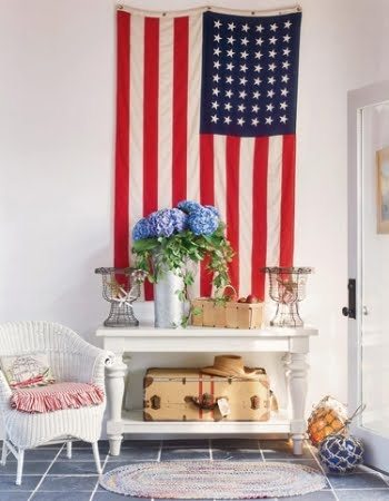 American flag decor via Veranda